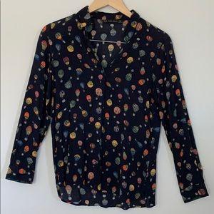 Zara button shirt with hot air ballon 🛸